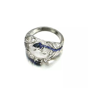 925 Silver Blue Stone Size 7 Ring